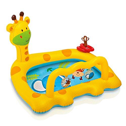 プール ビニールプール ファミリープール オーバルプール 家庭用プール 57105EP Intex Smiley Giraffe Inflatable Baby Pool, 44