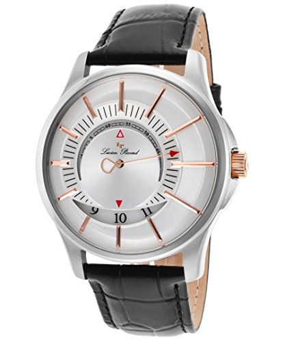 ルシアンピカール 腕時計 メンズ LP-40024-02S-RA Lucien Piccard Men's 'Vertigo' Quartz Stainless Steel and Leather Casual Watch, Color:Black (Model: LP-40024-02S-RA)ルシアンピカール 腕時計 メンズ LP-40024-02S-RA