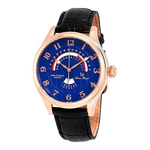 ルシアンピカール 腕時計 メンズ LP-40050-RG-03 【送料無料】Lucien Piccard Men's The Capital Stainless Steel Japanese-Quartz Watch with Leather-Calfskin Strap, Black, 22 (Model: LP-40050-RG-03)ルシアンピカール 腕時計 メンズ LP-40050-RG-03