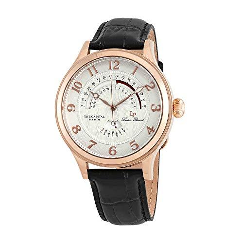 ルシアンピカール 腕時計 メンズ LP-40050-RG-02S 【送料無料】Lucien Piccard Men's The The Capital Stainless Steel Japanese-Quartz Watch with Leather-Calfskin Strap, Black, 22 (Model: LP-40050-RG-02S)ルシアンピカール 腕時計 メンズ LP-40050-RG-02S