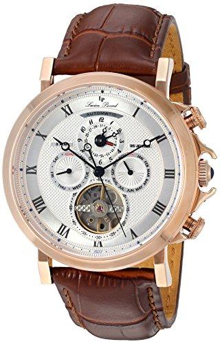 ルシアンピカール 腕時計 メンズ LP-40021A-RG-02S-BRW Lucien Piccard Men's 'Acropolis' Stainless Steel and Leather Automatic Watch, Color:Brown (Model: LP-40021A-RG-02S-BRW)ルシアンピカール 腕時計 メンズ LP-40021A-RG-02S-BRW