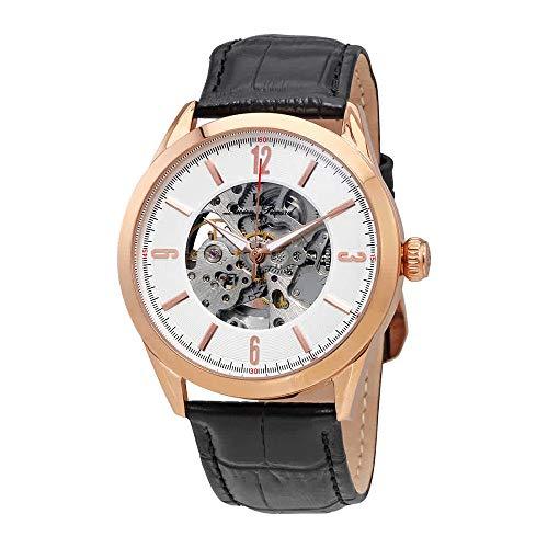 ルシアンピカール 腕時計 メンズ 【送料無料】Luien Piccard Automatic Skeleton Dial Men's Watch with Watch Winder 10660A-RG-02S-Wルシアンピカール 腕時計 メンズ