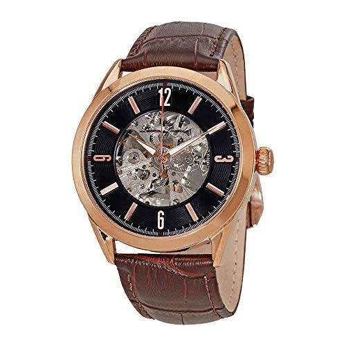 ルシアンピカール 腕時計 メンズ LP-10660A-RG-01-BRW-W 【送料無料】Lucien Piccard Black Skeleton Dial Men's Watch LP-10660A-RG-01-BRW-Wルシアンピカール 腕時計 メンズ LP-10660A-RG-01-BRW-W