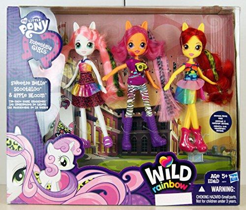 マイリトルポニー ハズブロ hasbro、おしゃれなポニー かわいいポニー ゆめかわいい My Little Pony Equestria Girls Exclusive Wild Rainbow Doll 3-Pack The Cutie Mark Crusaders [マイリトルポニー ハズブロ hasbro、おしゃれなポニー かわいいポニー ゆめかわいい