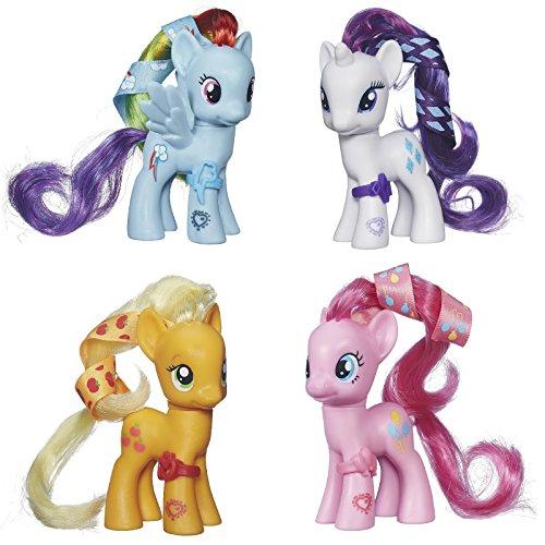 マイリトルポニー ハズブロ hasbro、おしゃれなポニー かわいいポニー ゆめかわいい 【送料無料】My Little Pony Cutie Mark Magic Figure Set of 4 - Applejack, Rarity, Rainbマイリトルポニー ハズブロ hasbro、おしゃれなポニー かわいいポニー ゆめかわいい