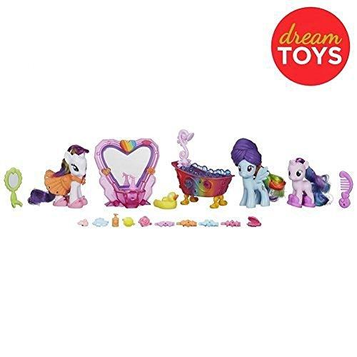 マイリトルポニー ハズブロ hasbro、おしゃれなポニー かわいいポニー ゆめかわいい My Little Pony Friendship Magic Bath Spa Set with 3 Ponies and 25 Accessories (Rainbow Dash,マイリトルポニー ハズブロ hasbro、おしゃれなポニー かわいいポニー ゆめかわいい