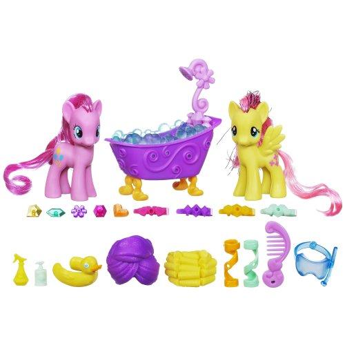 マイリトルポニー ハズブロ hasbro、おしゃれなポニー かわいいポニー ゆめかわいい A1699 My Little Pony Pinkie Pie and Fluttershy Crystal Sparkle Bath Setマイリトルポニー ハズブロ hasbro、おしゃれなポニー かわいいポニー ゆめかわいい A1699