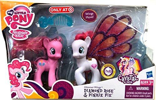 マイリトルポニー ハズブロ hasbro、おしゃれなポニー かわいいポニー ゆめかわいい A1032/A0637 【送料無料】My Little Pony Glimmer Wings Diamond Rose & Pinkieマイリトルポニー ハズブロ hasbro、おしゃれなポニー かわいいポニー ゆめかわいい A1032/A0637