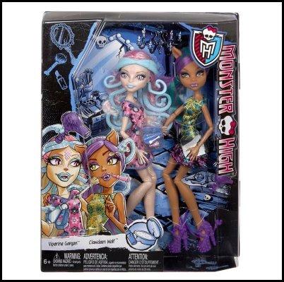モンスターハイ 人形 ドール Monster High Scare and Make-Up Two Pack Featuring Viperine Gorgon and Clawdeen Wolf Dollsモンスターハイ 人形 ドール