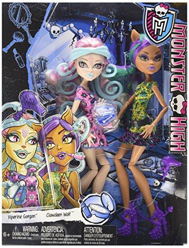 モンスターハイ 人形 ドール CKD05 【送料無料】Monster High Scare and Makeup Viperine Gorgon and Clawdeen Wolf 2 Doll Setモンスターハイ 人形 ドール CKD05