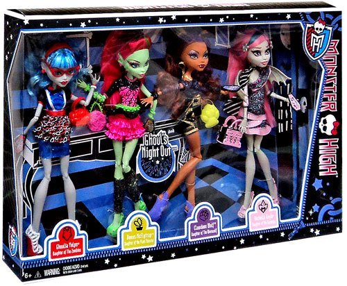 モンスターハイ 人形 ドール BBR96 【送料無料】Monster High Ghouls Night Out 4 Doll Set Rochelle Goyle - Clawdeen Wolf - Ghoulia Yelps & Venus McFlytrapモンスターハイ 人形 ドール BBR96