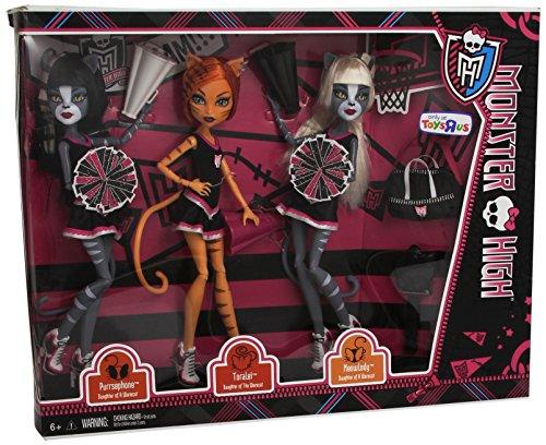 モンスターハイ 人形 ドール Y7297 EXCLUSIVE Monster High 3-PACK FEARLEADING Werecats TORALEI Meowlody and Purrsephoneモンスターハイ 人形 ドール Y7297