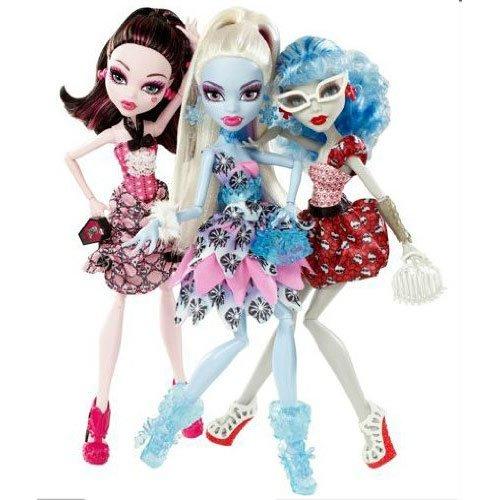 モンスターハイ 人形 ドール X4482 Monster High Doll Exclusive Dot Dead Gorgeous ~ 3 Pack Draculaura, Abbey Bominable, Ghoulia Yelpsモンスターハイ 人形 ドール X4482
