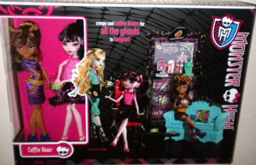 モンスターハイ 人形 ドール x4517 Monster High Exclusive Clawdeen Wolf and Draculaura Coffin Bean Play Setモンスターハイ 人形 ドール x4517