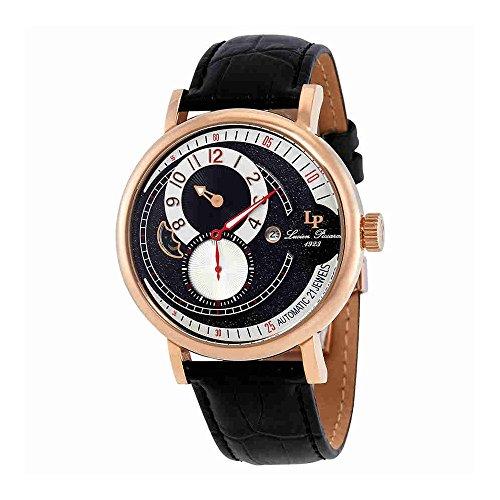 ルシアンピカール 腕時計 メンズ LP-15157-RG-01-W Lucien Piccard Supernova Black and Silver Dial Automatic Men's Watch 15157-RG-01-Wルシアンピカール 腕時計 メンズ LP-15157-RG-01-W