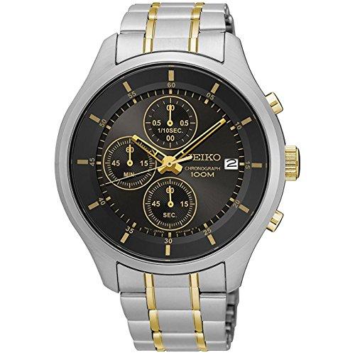 セイコー 腕時計 メンズ SKS543P1 【送料無料】Seiko Men's 43mm Two Tone Steel Bracelet Steel Case Hardlex Crystal Quartz Black Dial Analog Watch SKS543セイコー 腕時計 メンズ SKS543P1