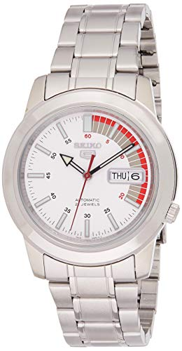 腕時計 セイコー メンズ SNKK25 【送料無料】Seiko Men's SNKK25 5 Stainless Steel White Dial Watch腕時計 セイコー メンズ SNKK25