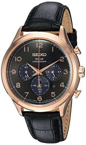 セイコー 腕時計 メンズ SSC566 【送料無料】Seiko Men's Solar Chronograph Stainless Steel Japanese-Quartz Watch with Leather Calfskin Strap, Black, 21 (Model: SSC566)セイコー 腕時計 メンズ SSC566