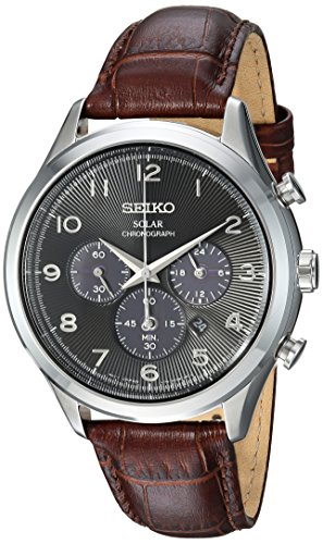 セイコー 腕時計 メンズ SSC565 【送料無料】Seiko Men's Solar Chronograph Stainless Steel Japanese-Quartz Watch with Leather Calfskin Strap, Brown, 21 (Model: SSC565)セイコー 腕時計 メンズ SSC565