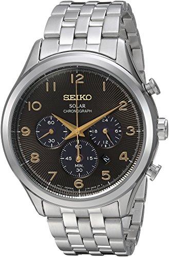セイコー 腕時計 メンズ SSC563 Seiko Men's Solar Chronograph Japanese-Quartz Watch with Stainless-Steel Strap, Silver, 20 (Model: SSC563)セイコー 腕時計 メンズ SSC563