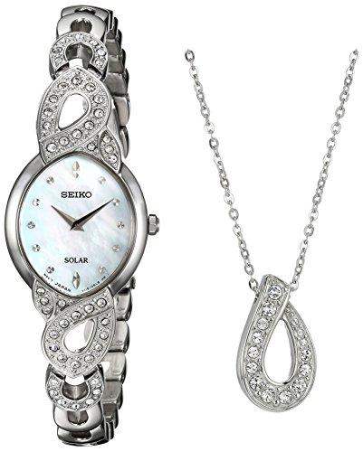 セイコー 腕時計 レディース SUP367 Seiko Women's Ladies Crystal Jewelry Japanese-Quartz Watch with Stainless-Steel Strap, Silver, 9 (Model: SUP367)セイコー 腕時計 レディース SUP367