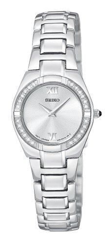 セイコー 腕時計 レディース SUJF09 【送料無料】Seiko Women's SUJF09 Diamond Silver-Tone Watchセイコー 腕時計 レディース SUJF09