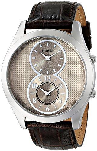 ゲス GUESS 腕時計 メンズ U0376G2 【送料無料】GUESS Men's U0376G2 Brown Chronograph Watch with Mink Dial, Rose Gold-Tone Case & Genuine Leather Strapゲス GUESS 腕時計 メンズ U0376G2