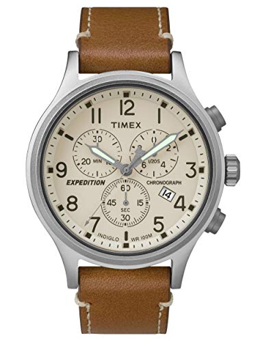 タイメックス 腕時計 メンズ TW4B09200 【送料無料】Timex Expedition Scout Cream Dial Leather Strap Men's Watch TW4B09200タイメックス 腕時計 メンズ TW4B09200