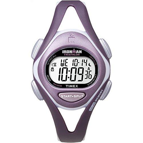 タイメックス 腕時計 レディース T5K007 【送料無料】Timex Women's T5K007 Ironman Sleek 50 Mid-Size Plum Resin Strap Watchタイメックス 腕時計 レディース T5K007