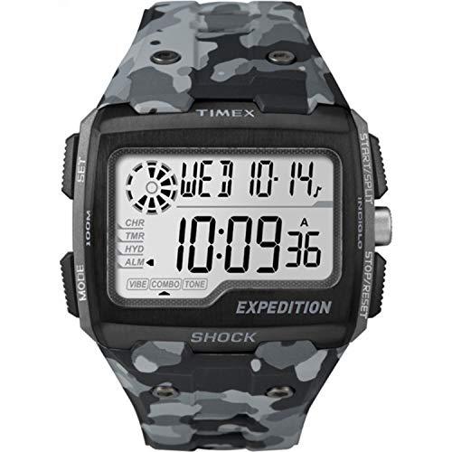 タイメックス 腕時計 メンズ TW4B03000 Timex Men's TW4B030009J Expedition Grid Shock Gray Camo Resin Strap Watchタイメックス 腕時計 メンズ TW4B03000