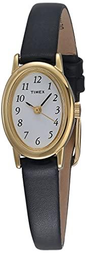 腕時計 タイメックス レディース T21912 【送料無料】Timex Women's T21912 Cavatina Black Leather Strap Watch腕時計 タイメックス レディース T21912