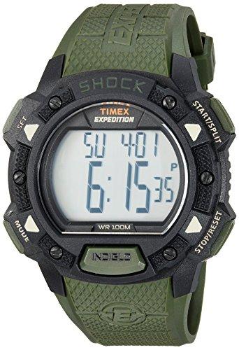 タイメックス 腕時計 メンズ TW4B09300 【送料無料】Timex Men's TW4B09300 Expedition Base Shock Green/Black Resin Strap Watchタイメックス 腕時計 メンズ TW4B09300