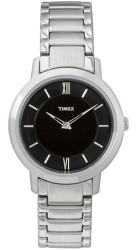 タイメックス 腕時計 メンズ T2M543PF 【送料無料】Timex Womens Elegant Black Dial Roman Numerals Stainless Steel Bracelet Watchタイメックス 腕時計 メンズ T2M543PF