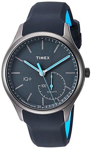 腕時計 タイメックス メンズ TW2P94900 【送料無料】Timex Men's TW2P94900 IQ+ Move Activity Tracker Gray/Black/Blue Silicone Strap Smartwatch腕時計 タイメックス メンズ TW2P94900