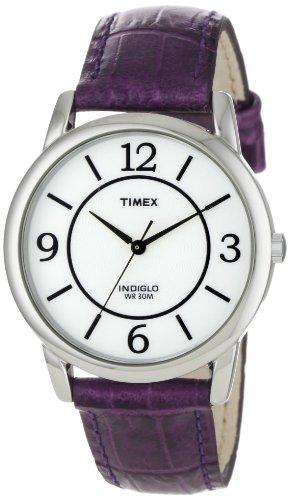 タイメックス 腕時計 レディース T2N690 【送料無料】Timex Women's T2N690 Elevated Classics Dress Color Strap Collection Purple Leather Strap Watchタイメックス 腕時計 レディース T2N690