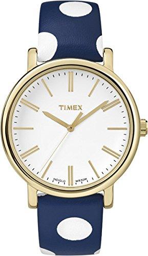 タイメックス 腕時計 レディース Timex? Originals Dots Timex #TW2P63500 Women's Gold Tone Originals Blue Polka Dot Leather Band Watchタイメックス 腕時計 レディース Timex? Originals Dots