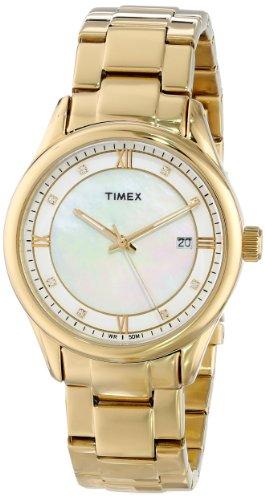 タイメックス 腕時計 レディース T2P1489J 【送料無料】Timex Women's T2P1489J Classic Gold-Tone Stainless Steel Bracelet Watchタイメックス 腕時計 レディース T2P1489J