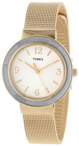 タイメックス 腕時計 レディース T2P197KW 【送料無料】Timex Women's T2P197KW Ameritus Gold-Tone Stainless Steel Mesh Bracelet Dress Watchタイメックス 腕時計 レディース T2P197KW