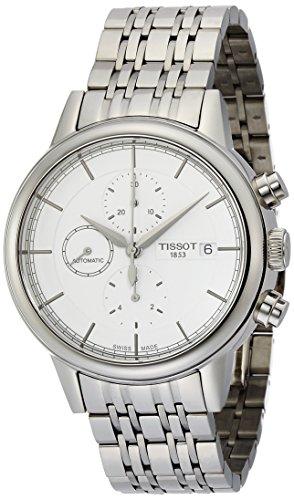ティソ 腕時計 メンズ T0854271101100 Tissot Carson Silver Dial Stainless Steel Chronograph Men's T0854271101100ティソ 腕時計 メンズ T0854271101100