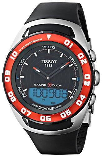 ティソ 腕時計 メンズ T0564202705100 Tissot Sailing-Touch Mens Black Face Multi-Function Watch T056.420.27.051.00ティソ 腕時計 メンズ T0564202705100