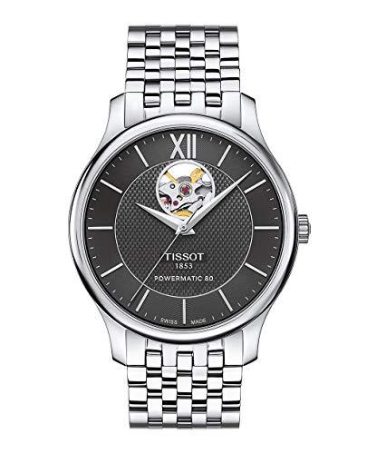 ティソ 腕時計 メンズ T0639071105800 【送料無料】Tissot Men's Tradition Powermatic 80 Open Heart - T0639071105800 Black/Grey One Sizeティソ 腕時計 メンズ T0639071105800