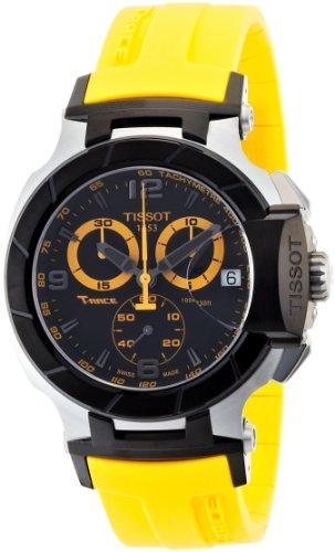 ティソ 腕時計 メンズ T0484172705703 Tissot Men's T0484172705703 T-Race Quartz Yellow Strap Chronograph Dial Watchティソ 腕時計 メンズ T0484172705703