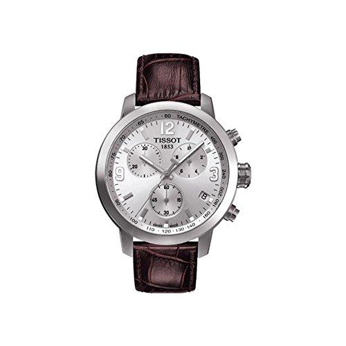 ティソ 腕時計 メンズ T055.417.16.037.00 【送料無料】Tissot Mens PRC 200 Brown Leather Strap Chonograph Watchティソ 腕時計 メンズ T055.417.16.037.00
