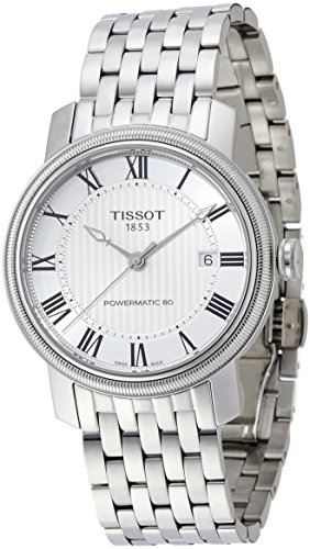 腕時計 ティソ メンズ T0974071103300 【送料無料】Tissot T-Classic Bridgeport Powermatic 80 Automatic Silver Dial Stainless Steel Mens Watch T0974071103300腕時計 ティソ メンズ T0974071103300