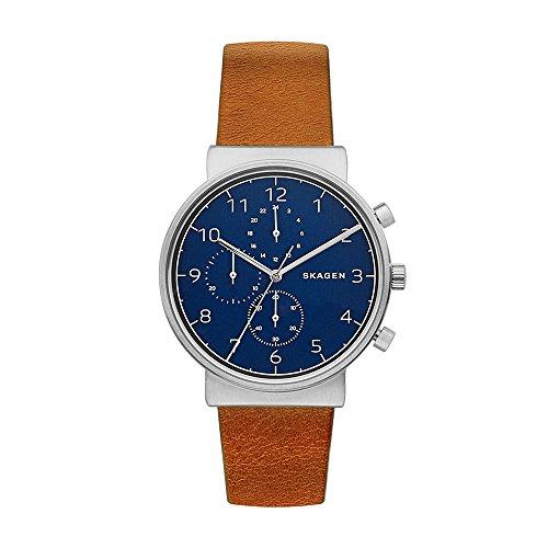 スカーゲン 腕時計 メンズ SKW6358 【送料無料】Skagen Men's Ancher Quartz Stainless Steel and Leather Chronograph Watch, Color: Silver-Tone, Brown (Model: SKW2616)スカーゲン 腕時計 メンズ SKW6358
