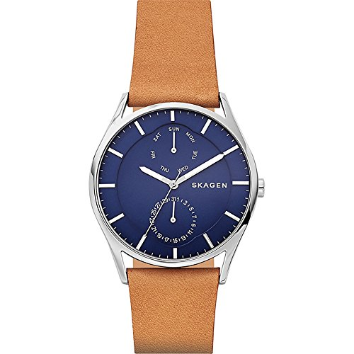 スカーゲン 腕時計 メンズ SKW6369 Skagen Men's Holst Quartz Stainless Steel and Leather Casual Watch, Color: Brown (Model: SKW6369)スカーゲン 腕時計 メンズ SKW6369