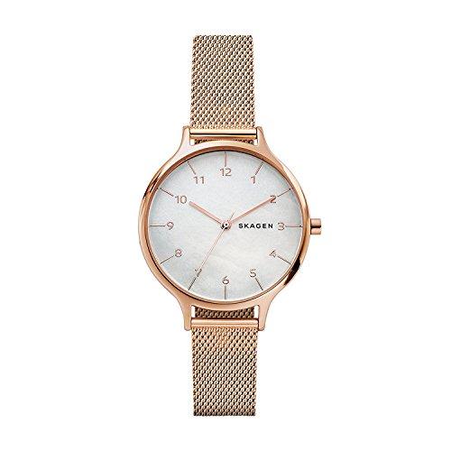 スカーゲン 腕時計 レディース SKW2633 Skagen Women's Anita Quartz Stainless Steel Mesh Casual Watch, Color: Gold (Model: SKW2633)スカーゲン 腕時計 レディース SKW2633