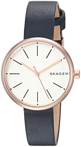 スカーゲン 腕時計 レディース SKW2592 【送料無料】Skagen Women's SKW2592 Signatur Blue Leather Watchスカーゲン 腕時計 レディース SKW2592