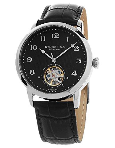 ストゥーリングオリジナル 腕時計 メンズ 781.02 【送料無料】Stuhrling Original Mens's 781.02 Legacy Automatic Black Dial Leather Strap Watchストゥーリングオリジナル 腕時計 メンズ 781.02