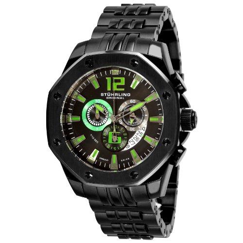 ストゥーリングオリジナル 腕時計 メンズ 181CR.335971 Stuhrling Original Men's 181CR.335971 Nautilus Swiss Quartz Chronograph Black Watchストゥーリングオリジナル 腕時計 メンズ 181CR.335971